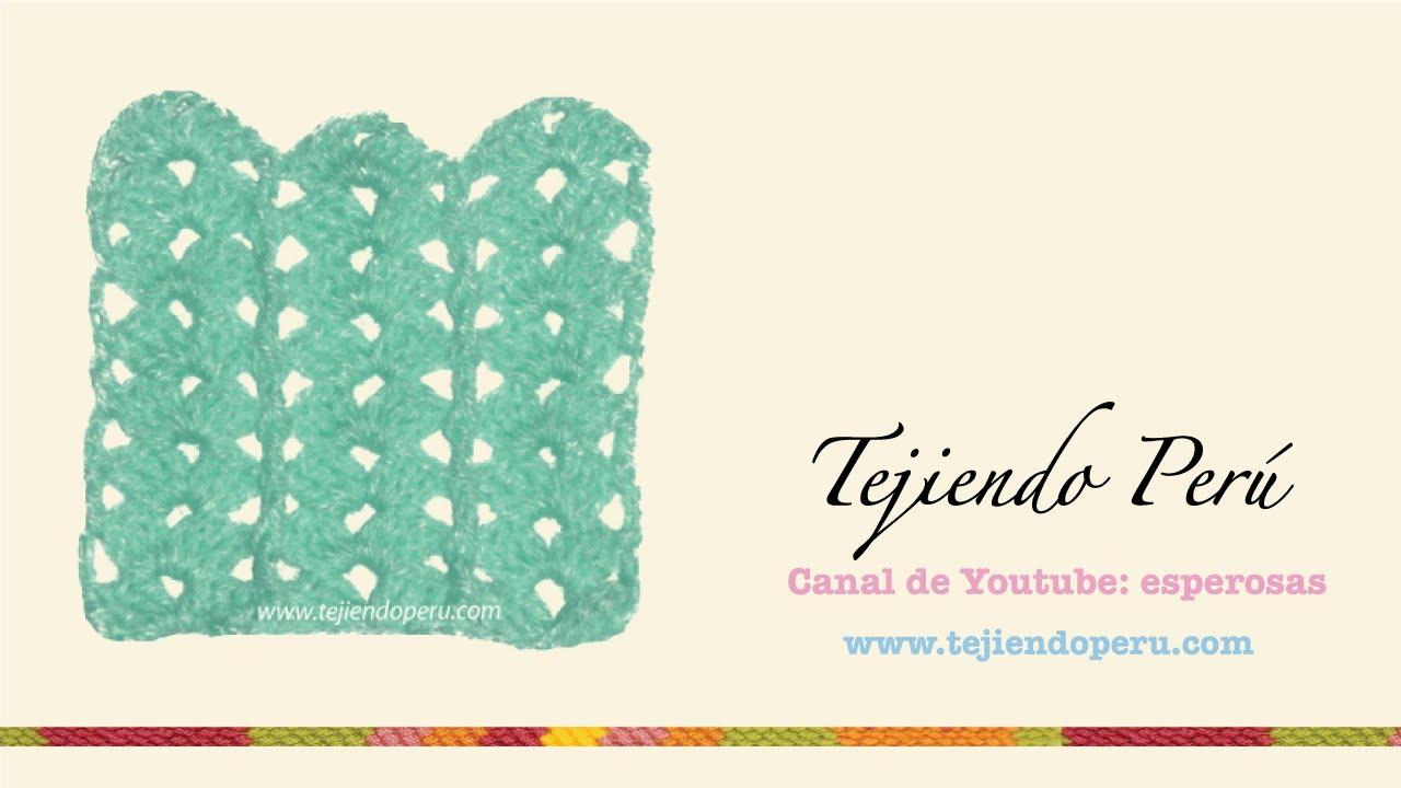 Punto fantasía tejido en crochet # 5 - YouTube