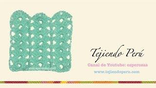 Punto fantasía tejido en crochet # 5