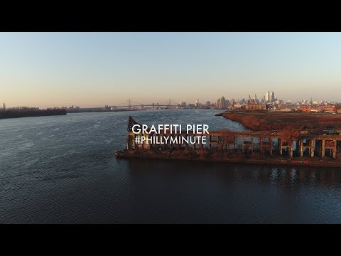 Sunrise at Graffiti Pier Philadelphia #PhillyMinute