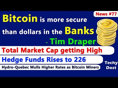 Bitcoin is more secure than dollars in the banks - Tim Draper,  Crypto Hedge Funds Rises to 226