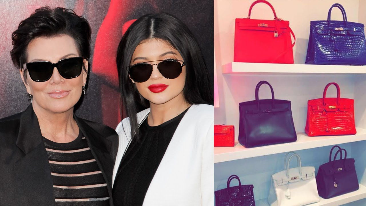 Kylie Jenner Shows Off Kris Jenners Closet Full Of Birkin Bags
