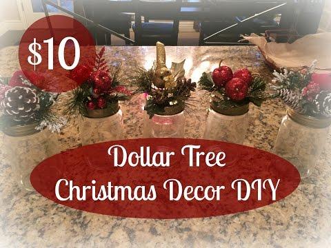 $10.00 DOLLAR TREE Christmas Decor DIY!!