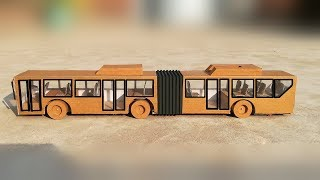 DIY Toy Bus from cardboard | Toy Articulated Bus