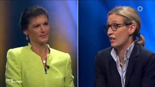 Sahra Wagenknecht im Fünfkampf mit Özdemir Herrmann Lindner Weidel