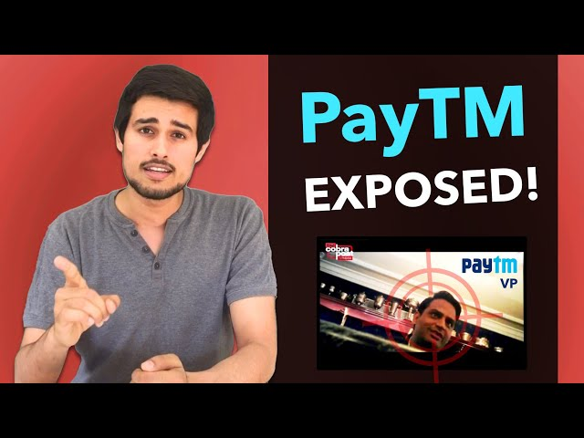 Truth behind PayTM by Dhruv Rathee | Cobrapost Operation 136