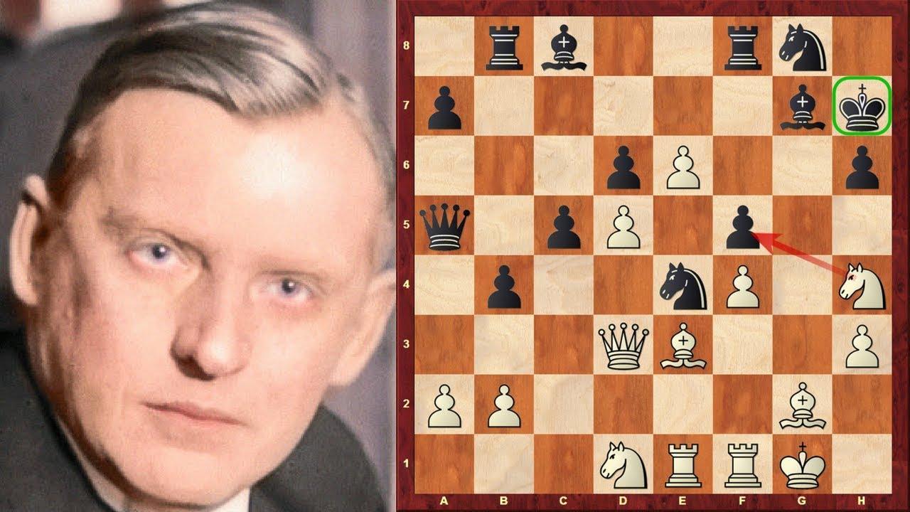 Alexander Alekhine Immortal Game! vs Alan Linnell Fletcher - London 1928  (Chessworld net) - Amazing
