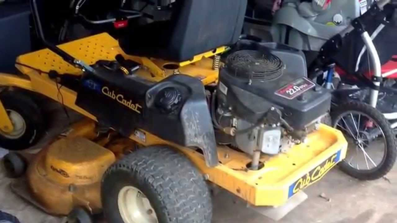 Cub Cadet RZT50 blown fuse  YouTube