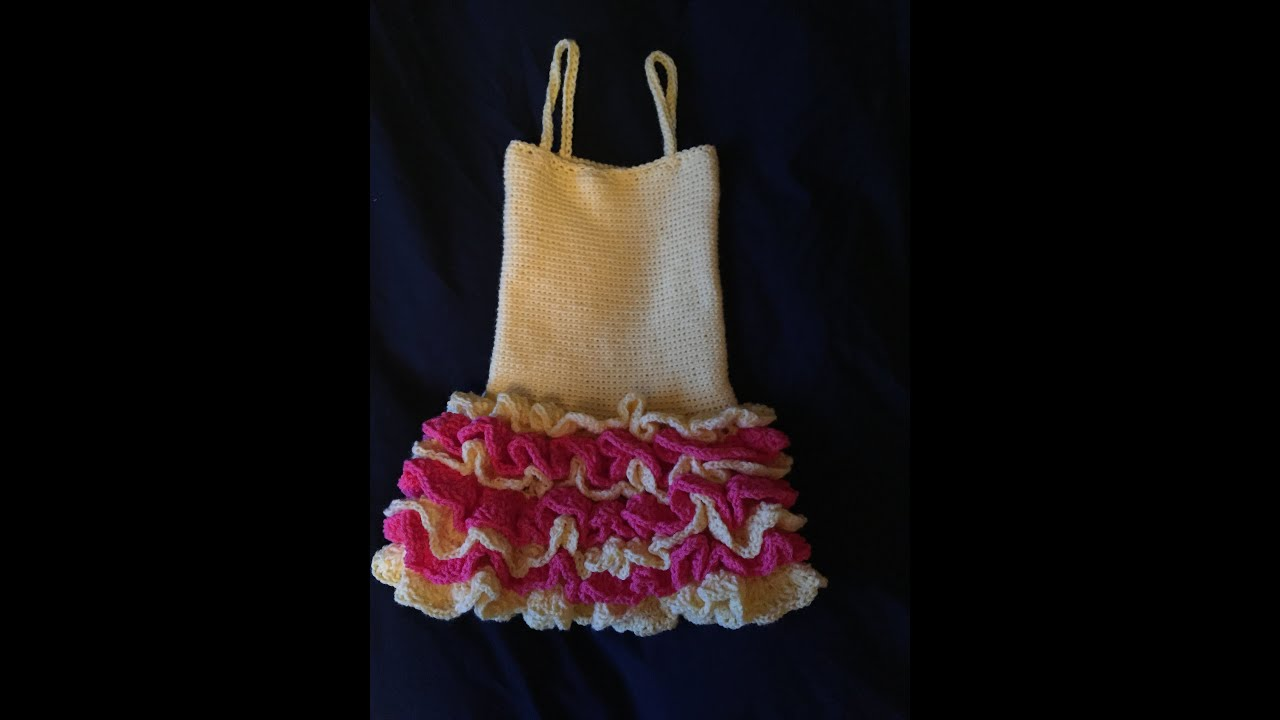 HOW TO CROCHET A DRESS WITH RUFFLE SKIRT