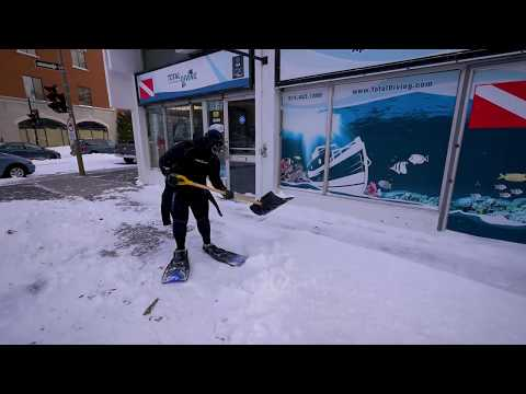 Diveshop snow removing solution - Total Diving - Montreal Scuba