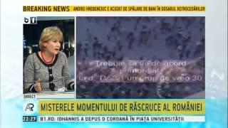 Discutii aprinse despre Revolutie intre Codrin Stefanescu si Andreea Pora, in studioul B1 TV
