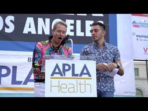 Carson Kressley & Brock Ciarlelli  AIDS Walk Los Angeles 2018