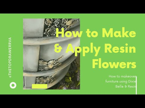 How To Apply Casting Resin Roses & Ombré Paint A Dresser