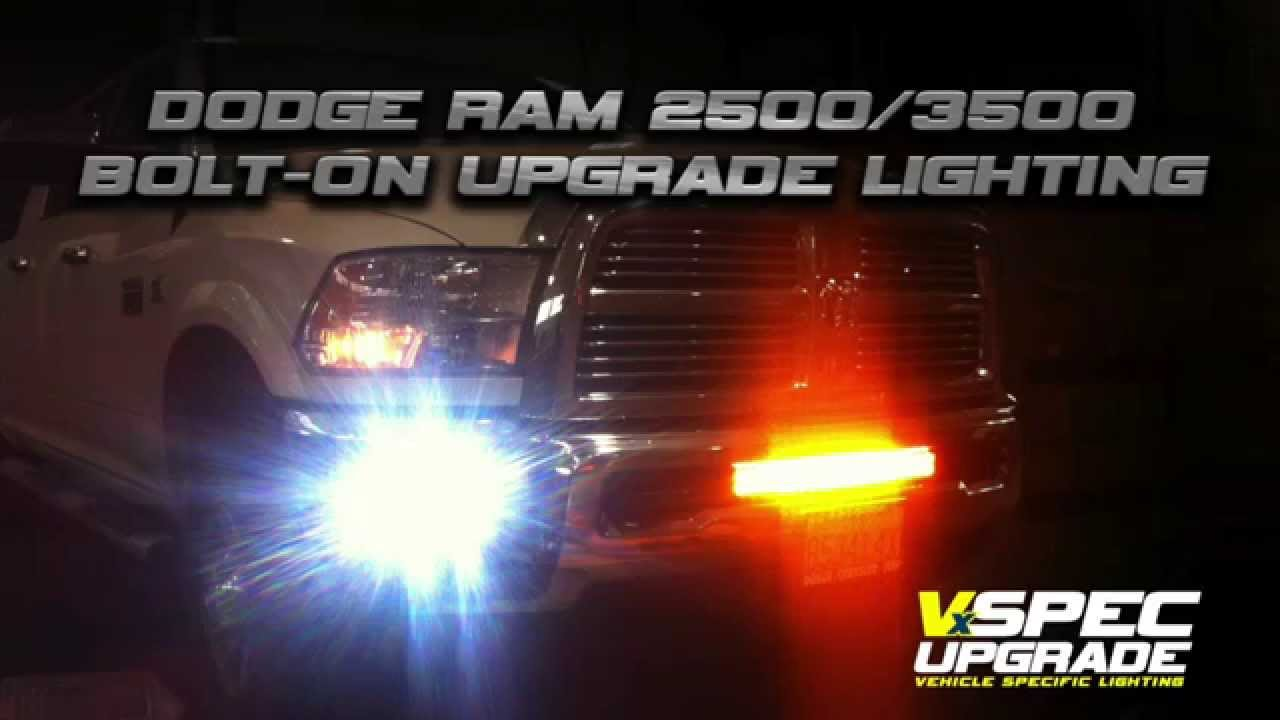 Vision X Lighting Dodge Ram 2500/3500 LED Bar and Fog Lights Video - YouTube