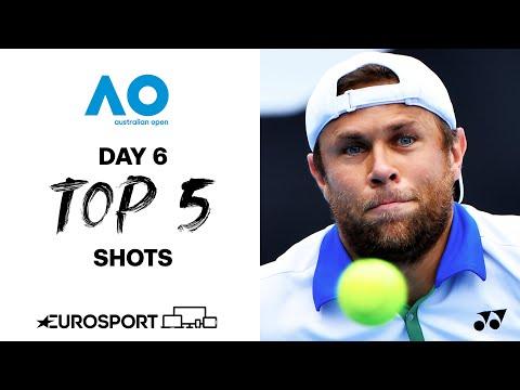 Top 5 shots - Day 6  | Australian Open 2021 - Highlights | Tennis | Eurosport