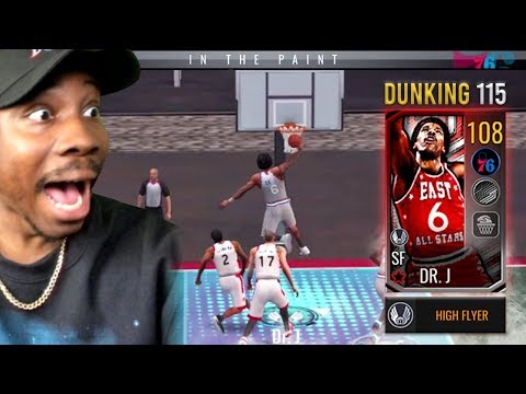 108 OVR DR. J POSTER DUNKING AT RUCKER PARK! NBA Live Mobile 19 Season 3 Ep. 134