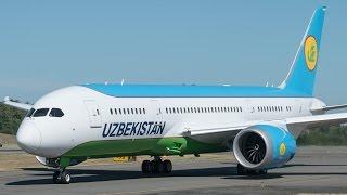 First Uzbekistan 787 Flies For The First Time @ Paine Field