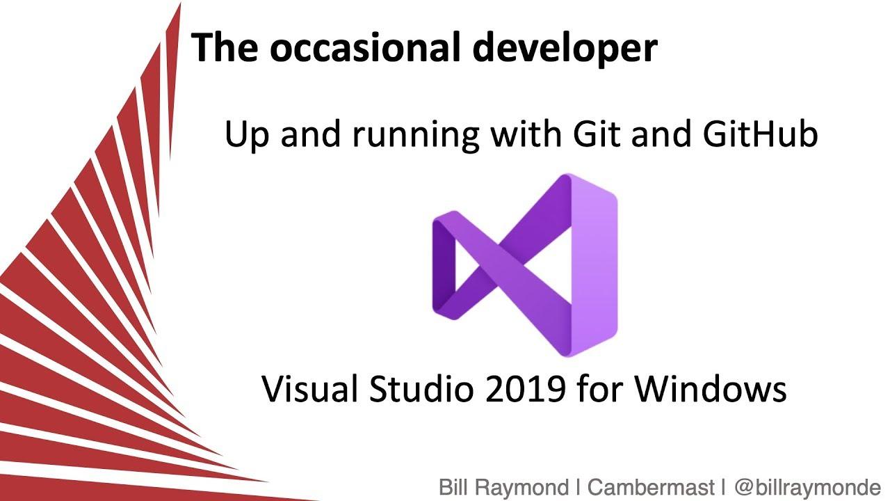 Up and Running with GitHub and Visual Studio 2019