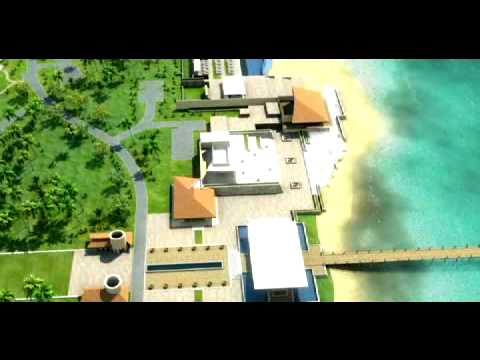 3D Architectural Island Resort Animation