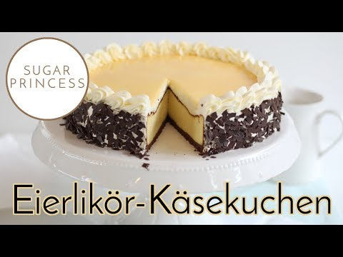Traumhafter, schneller Käsekuchen mit Eierlikör, Sahne und Keksboden   Rezept von Sugarprincess
