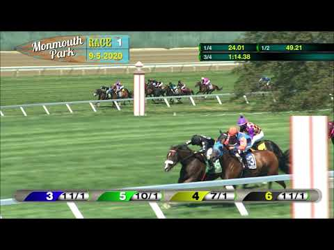 video thumbnail for MONMOUTH PARK 09-05-20 RACE 1