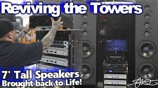Reviving the Towers - 7' tall speakers brought back to life! Crown XTI Amps & DBX Driverack Re-Wired