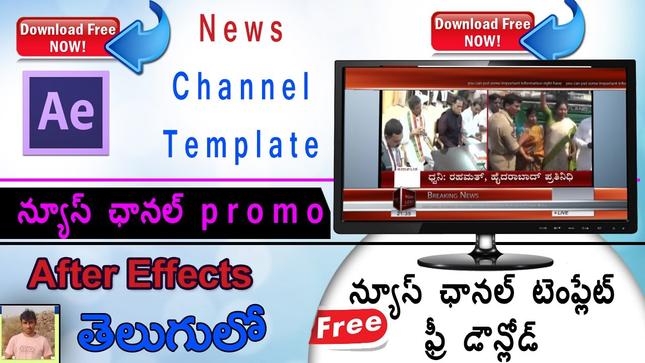 Adobe After Effects Tutorial Tv Broadcast News Channel Templates