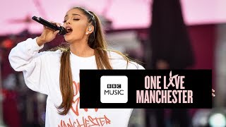 Ariana Grande performs One Last Time at One Love Manchester. **(UK ...