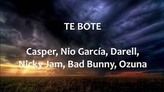Te Boté Remix - English lyrics - Letra español