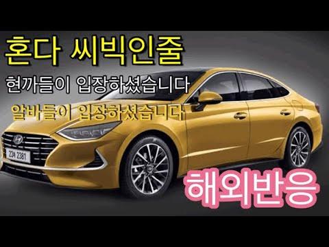 [해외반응] 2020년 풀체인지 쏘나타! DN8이 드디어 공개되다 혼다 씨빅닮아다고? | 2020 Full change Hyundai Sonata DN8