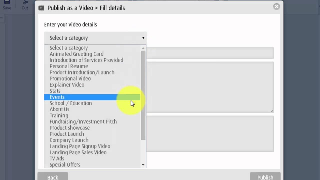 Powtoon How To Publish Share Youtube