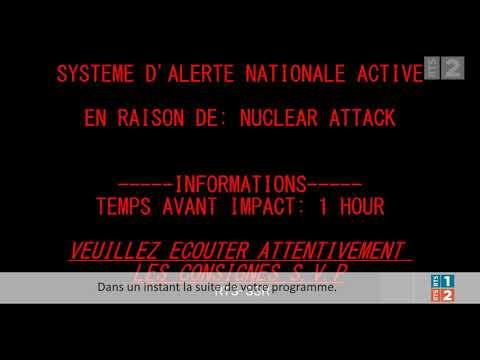 Alerte bombe nucléaire RTS deux (Réédition)(Fictif)(Radio Télévision Suisse)
