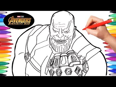 Avengers Infinity War Thanos Drawing And Coloring Thanos Marvel Avengers Coloring Pages Youtube
