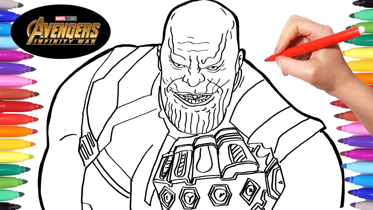 Avengers infinity war thanos drawing and coloring thanos marvel avengers coloring pages