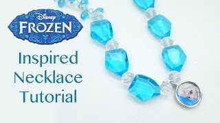 How to Make a Disney Frozen Inspired Elsa Necklace Tutorial