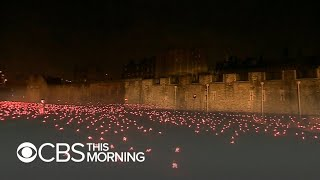 London honors fallen WWI soldiers with dazzling display of 10,000 flames