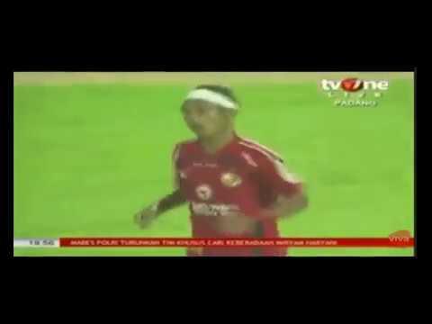 Sentuhan Magis Didier Zokora ke Rico Juntak, menghasilkan gol penentu Semen Padang