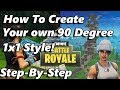 4 Steps To Create Your Own Style of a 90 Degree Turn! (Fortnite BR)