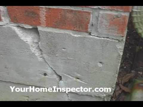 slab foundation corner cracks home inspection youtube - Fixing Foundation Cracks