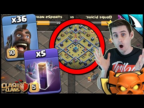 Does Hog Bat Work In The Clan War League? Risky Attack | Clash Of Clans