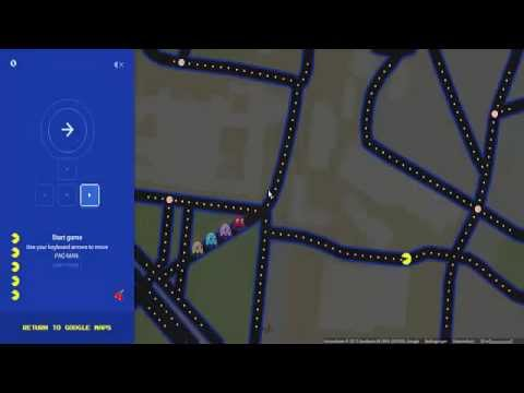 Let´s Play PacMan on Google Maps in Hannover