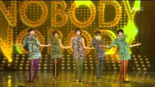 Wonder Girls - Nobody, 원더걸스 - 노바디, Music Core 20081018