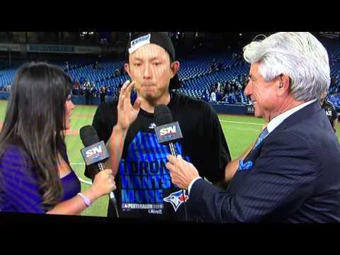 Kawasaki drunk interview post AL Series Game 5 vs. Rangers win
