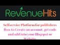 How to add RevenueHits into Blogspot and how to start earning with RevenueHits