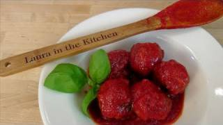How to Make Homemade Italian Meatballs from Scratch - by Laura Vitale - Laura in the Kitchen Ep 85