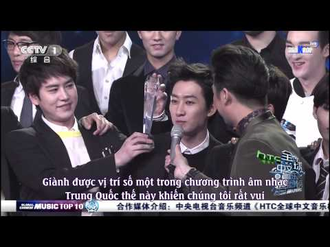 [SuJu Team @360KPOP][Vietsub] Super Junior M - SWING 1ST WIN @ 140329 Global Chinese Music