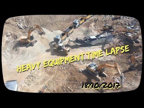 Heavy Equipment Time Lapse , Jerusalem 171018