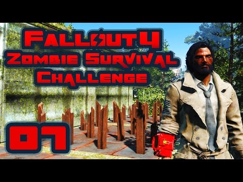 Let's Play Fallout 4: Zombie Survival Challenge - Part 7 - Radstag For Dinner, Radstag For Days