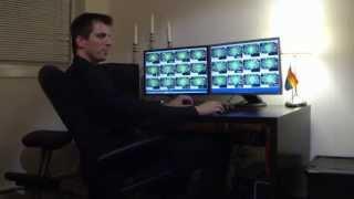 The poker computer setup