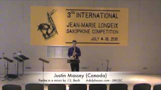 3rd JMLISC: Justin Massey (Canada) Partita in a minor by J.S. Bach
