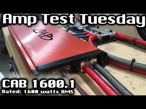 """BIG """"Bargain"""" Power? Amp Test Tuesday - """"CAB"""" 1600.1 - 1600 Watts RMS SMD AD-1 Amp Dyno"""